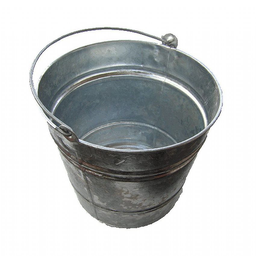 Galvanised Fireside Kindling & Ash Bucket 10L